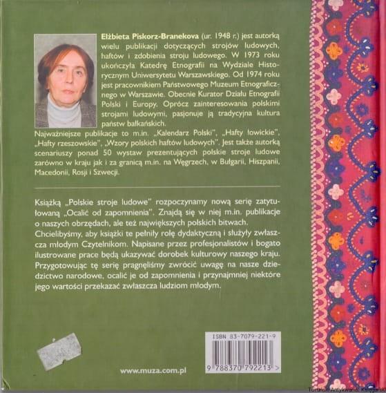 23dff76d81ea50 Polskie stroje ludowe / Elżbieta Piskorz-Branekova Toruński ...