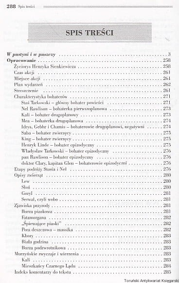 W Pustyni I W Puszczy Wydanie Z Opracowniem Henryk Sienkiewicz