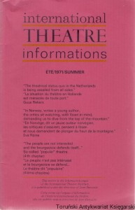 International Theatre informations ETE/1971/Summer / Praca zbiorowa
