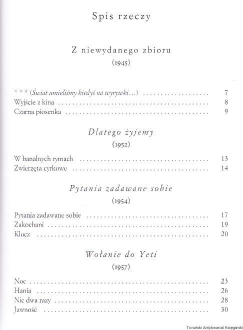 Wiersze Wybrane Wisława Szymborska