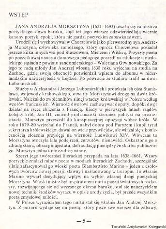 Cuda Miłości Fraszki Erotyki Wiersze Różne Jan Andrzej Morsztyn