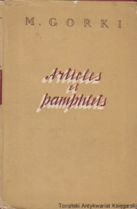 Articles et Pamphlets / M. Gorki