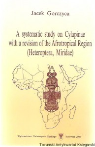 A systematic study on Cylapinae with a revision of the Afrotropical Region (Heteroptera, Miriadae) / Jacek Gorczyca