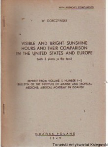 1.	Visible and bright sunshine hours and their comparison in the United States and Europe