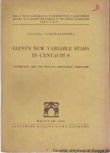 Eleven new variable stars in Centaurus : Contributions from the Wrocław Astronomical Observatory / Stefania Ninger-Kosibowa